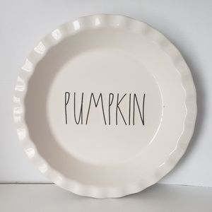 NEW Rae Dunn PUMPKIN Pie Plate
